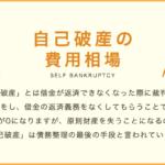 自己破産の費用相場・料金体系